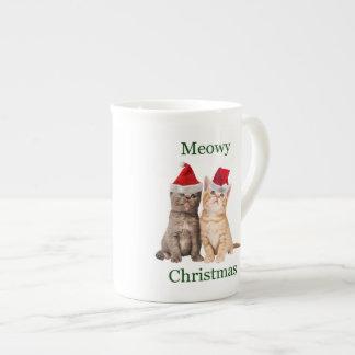 Meowy Christmas Kitten China Mug