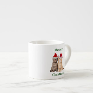 Meowy Christmas Kitten Espresso Mug