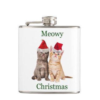 Meowy Christmas Kitten Flask