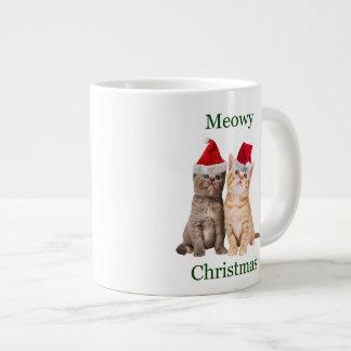 Meowy Christmas Kitten Jumbo Mug