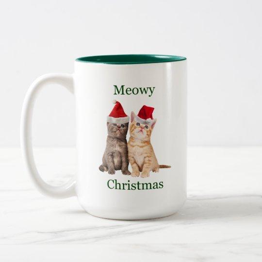 Meowy Christmas Kitten Mug
