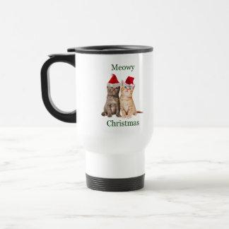 Meowy Christmas Kitten Travel Mug
