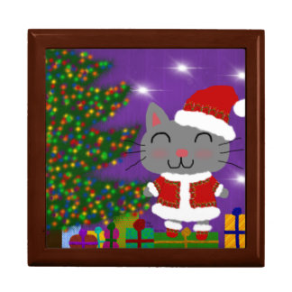 Meowy Christmas Large Square Gift Box