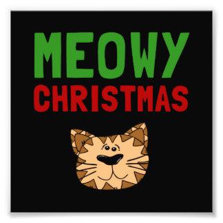 Meowy Christmas Photo Art