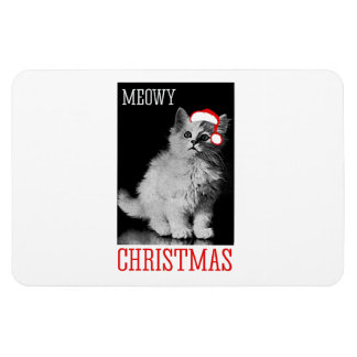 Meowy Christmas Rectangle Magnets