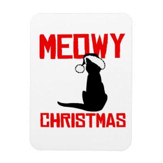 Meowy Christmas - Vinyl Magnets
