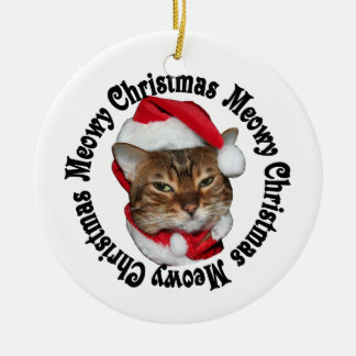 Meowy Christmas Small Design Christmas Ornament