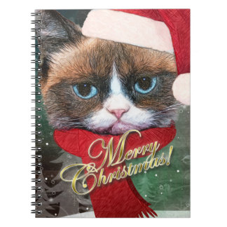 Meowy Santa Cat Christmas Notebook