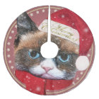 Meowy Santa Cat Christmas Tree Skirt