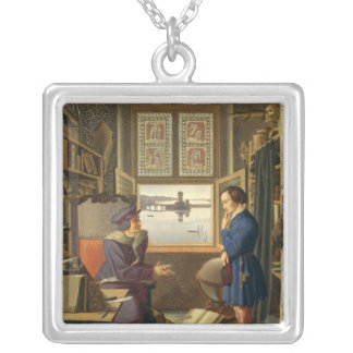 Mephisto and the Student, 1828 Silver Plated Necklace