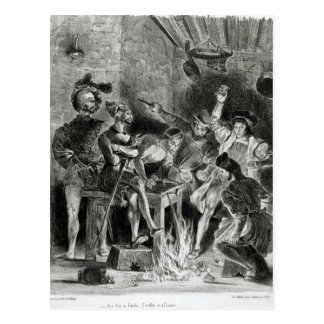 Mephistopheles and the Drinking Companions Postcard