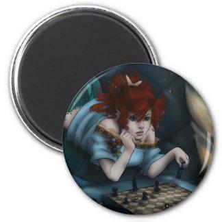Mer-Chess 6 Cm Round Magnet