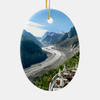 Mer de Glace - Chamonix France Ceramic Oval Decoration