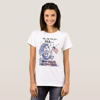 Mer-MAID in the USA woman's t-shirt