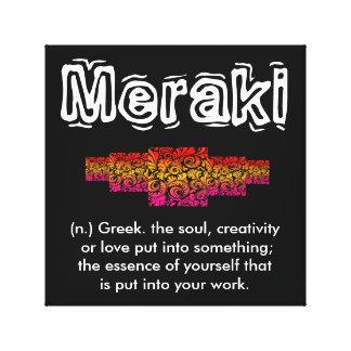 Meraki - Creative Artist Wall Art Stretched Canvas Prints