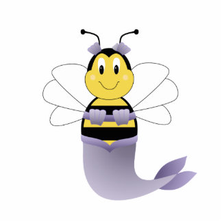 MerBee Bumble Bee Ornament Photo Sculpture Decoration
