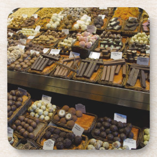 Mercat de Sant Josep, assorted chocolate candy Drink Coasters