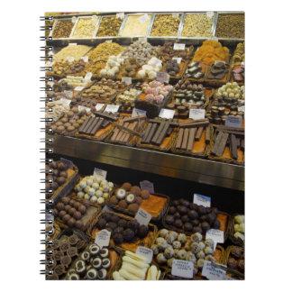 Mercat de Sant Josep, assorted chocolate candy Notebooks