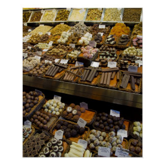 Mercat de Sant Josep, assorted chocolate candy Print
