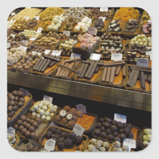 Mercat de Sant Josep, assorted chocolate candy Square Sticker