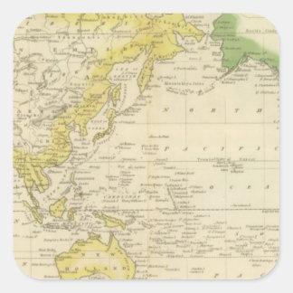 Mercator's Chart 2 Square Sticker