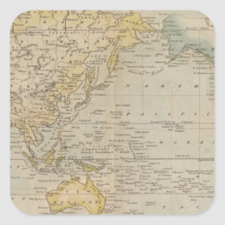 Mercator's Chart Square Sticker