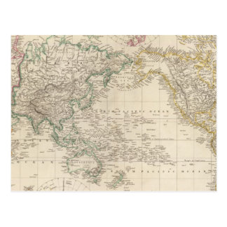 Mercators Projection of the world Postcard