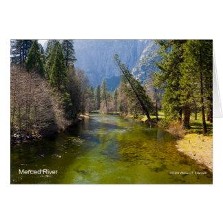 Merced River April Foliage Yosemite California Cards