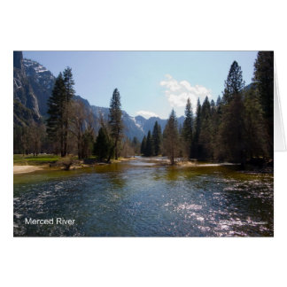 Merced River April Yosemite California Products Cards