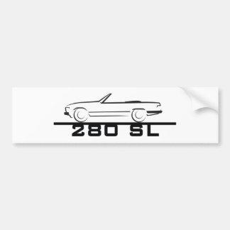Mercedes 280 SL Type 107 Bumper Sticker