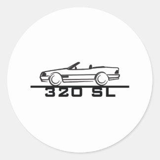 Mercedes 320 SL Type 129 Round Sticker