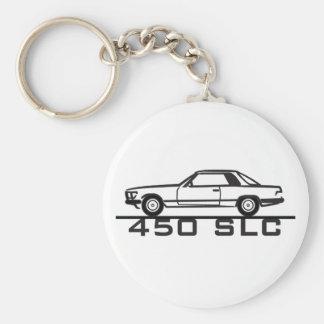Mercedes 450 SLC 107 Basic Round Button Key Ring