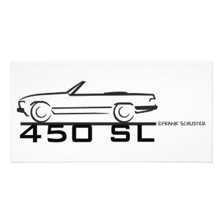 Mercedes 450SL Photo Card Template