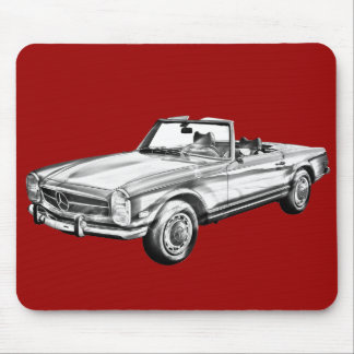 Mercedes Benz 280 SL Convertible Illustration Mouse Pad