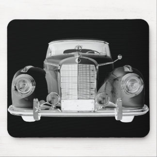 Mercedes Benz 300 Luxury Black and White Car Art Mousepad