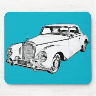 Mercedes Benz 300 Luxury Car Digital Drawing Mouse Pads