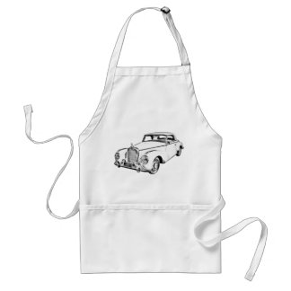 Mercedes Benz 300 Luxury Car Digital Drawing Standard Apron