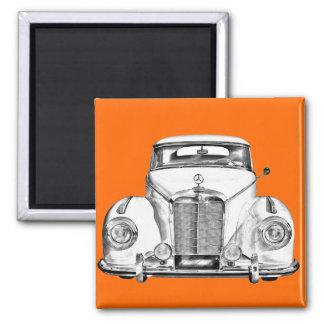 Mercedes Benz 300 Luxury Car Illustration Fridge Magnets