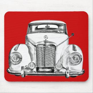 Mercedes Benz 300 Luxury Car Illustration Mousepads