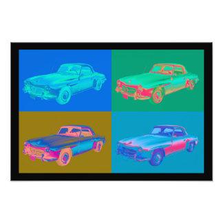 Mercedes Benz 300 sl Car Pop Art Art Photo