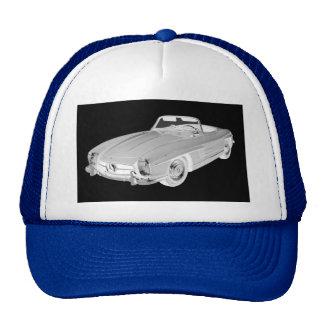 Mercedes Benz 300 SL Convertible Car Art Cap