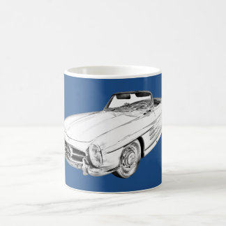 Mercedes Benz 300 SL Convertible Illustration Coffee Mug