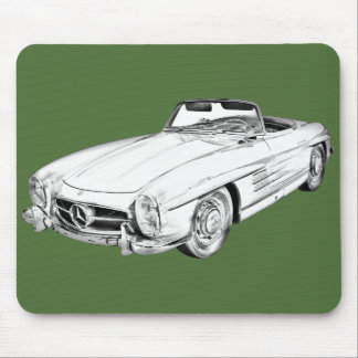 Mercedes Benz 300 SL Convertible Illustration Mousepads