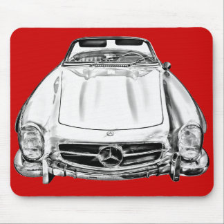Mercedes Benz 300 SL Convertible Illustration Mouse Pad