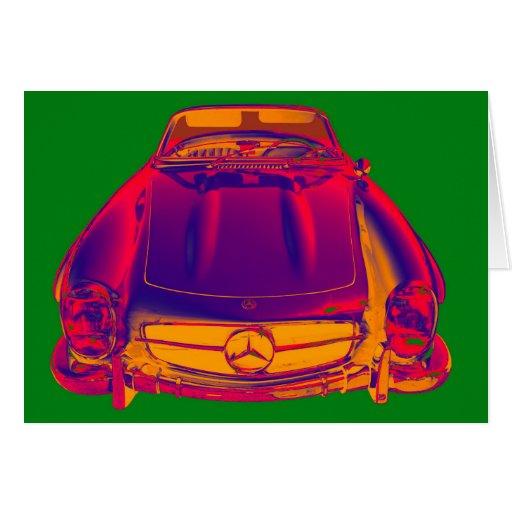Mercedes benz 300 sl convertible pop art greeting card for Mercedes benz card