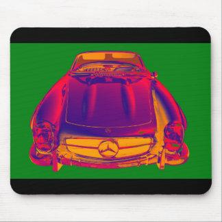 Mercedes Benz 300 SL Convertible Pop Art Mouse Pad