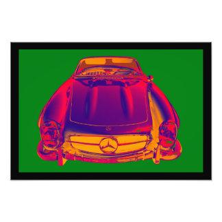 Mercedes Benz 300 SL Convertible Pop Art Photo Art