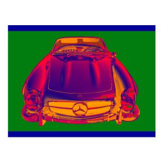 Mercedes Benz 300 SL Convertible Pop Art Postcard