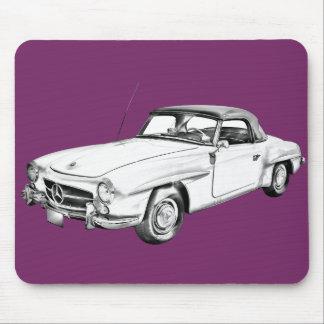 Mercedes Benz 300 sl Illustration Mouse Pads