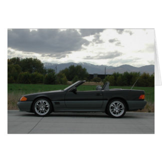 Mercedes-Benz 500 SL Roadster Greeting Card